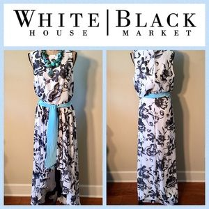 ⬇️ WHBM Floral Fit & Flare Hi/Low Dress VGUC